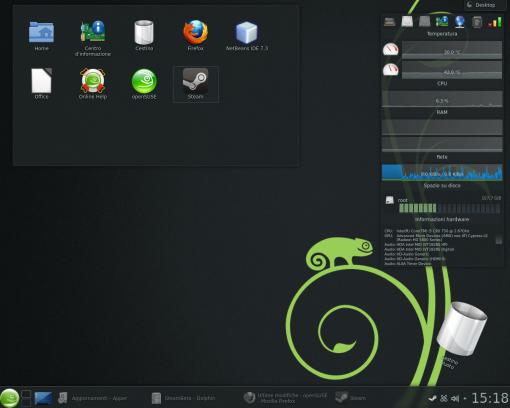 openSUSE 12.3 - KDE4 con qualche plasmoide