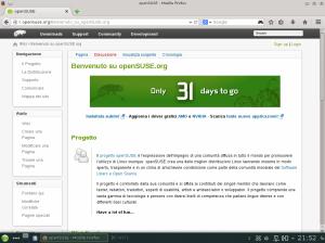 openSUSE 13.2 Beta1 - La nuova Home Page del Wiki ITA